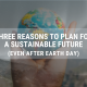three reasons blog, earth in hands, Earth Day 2020, Corporate Ink header